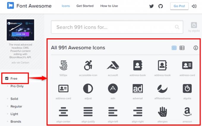 WebサイトでWebアイコンフォントを使う(Font Awesome5)