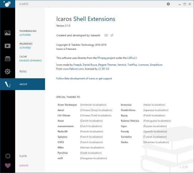 Windows10でさまざまなメディアファイルのサムネイルを表示するなら「Icaros」
