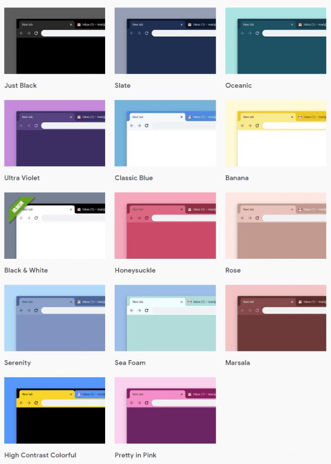 Google Chrome:Google公式のカラーテーマは、シンプルでGoodです。