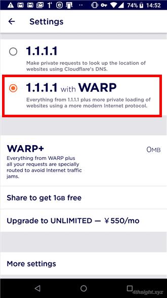スマホからのインターネット接続を高速化+安全性アップ「1.1.1.1 with WARP」