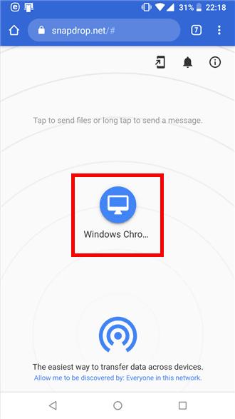 PCとスマホ間で手軽にファイルやメッセージを転送するなら「Snapdrop」