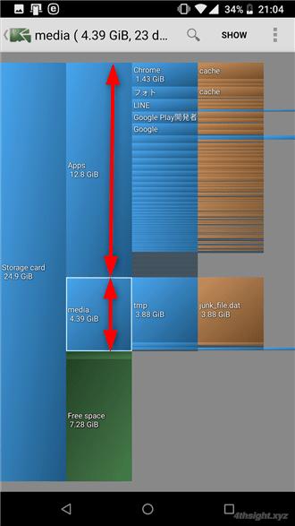 Android端末の空き容量をデータの削除や移動で増やす方法