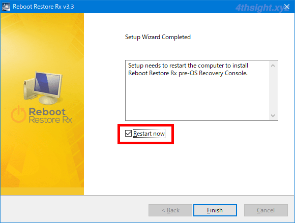 Windows10を再起動するたびに元の状態に戻す「Reboot Restore Rx」