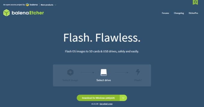 イメージファイルからブータブル(起動可能な)USBを作成する「balenaEtcher」